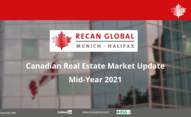 RECan Immobilienmarktreport Update Kanada für Mitte 2021 nun zum Download bereit